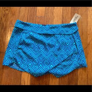 NWT forever 21 m medium shorts skirt blue zipper